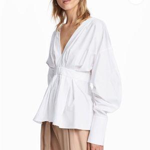H&M Cotton V-Neck Blouse